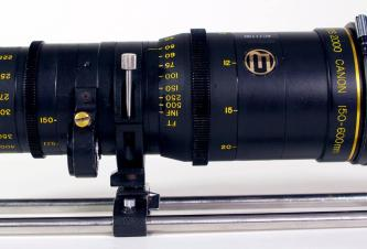 Canon/Century Series 2000 150-600mm T5.6 PL mount lens w/filter holder and 40 filter set