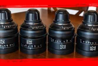 SOLD! Sony SCL-CineAlta 4K PL mount lens Set 20,25,35,50,85 &135MM