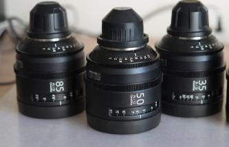 SOLD! Sony CineAlta 4K Five Lens Kit (PL Mount)